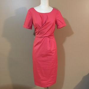 MaxMara Coral Dress Midi Tie Back Size 42/12